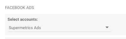 select an account in google data studio