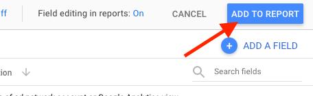 add to report in google data studio
