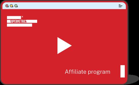 Supermetrics Affiliate program video