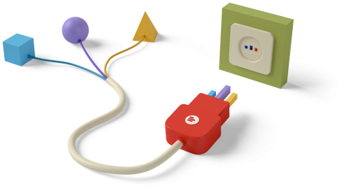 Plug and play connectors illustration