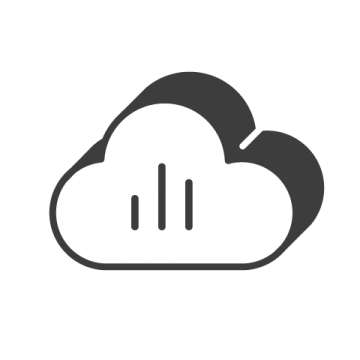 Supermetrics cloud icon white