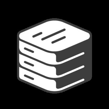 Supermetrics database icon white