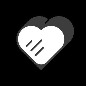 Supermetrics heart icon white