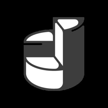 Supermetrics pie chart icon white