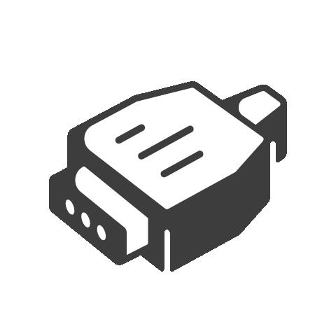 Supermetrics connector icon white