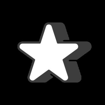 Supermetrics star icon white