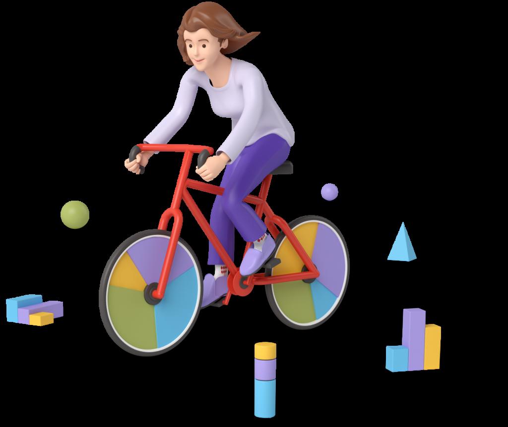 Anna on a bike