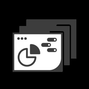 Supermetrics dashboard icon white