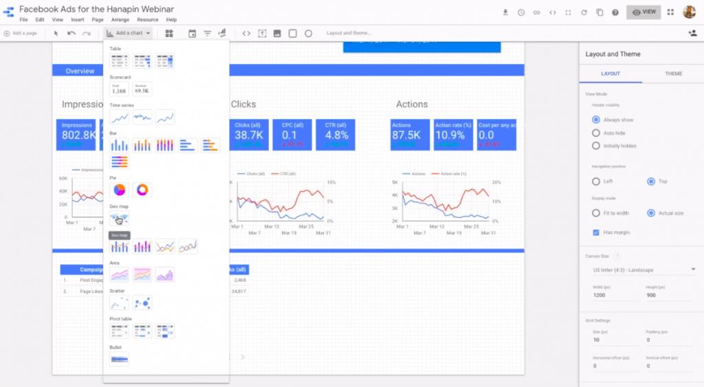 add geo map in google data studio