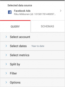 Query manager interface