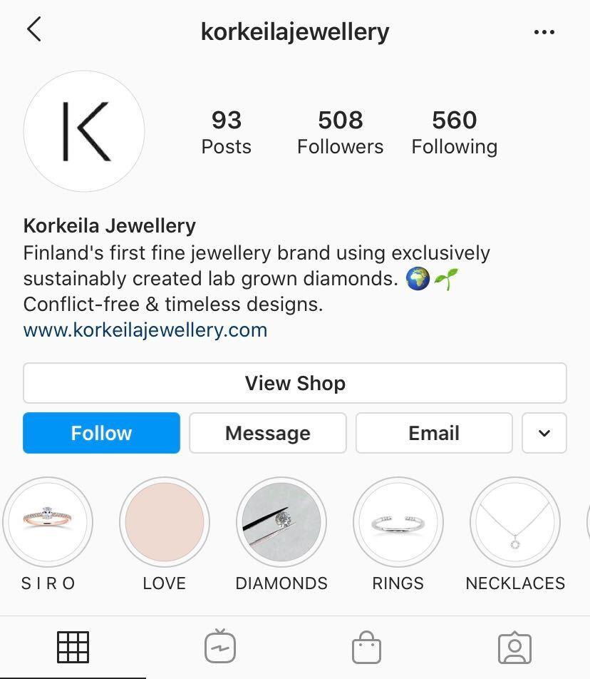 Instagram profile example