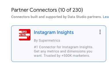 Instagram Insights connector by Supermetrics