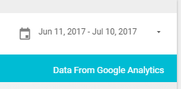 add a date range filter to google data studio