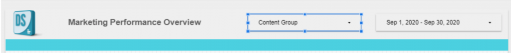 Add a content group filter in Google Data Studio