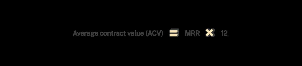 acv from mrr formula