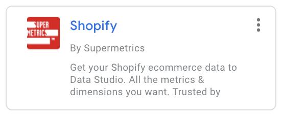 Shopify by Supermetrics