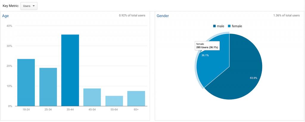 demographics report on google analytics