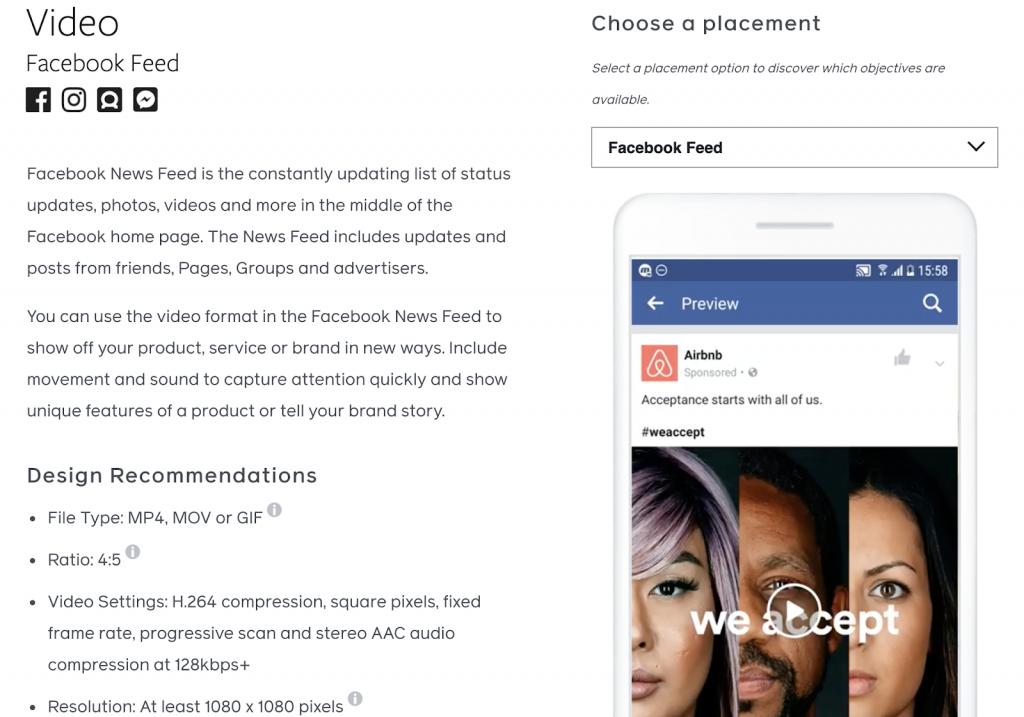 Facebook design guidelines
