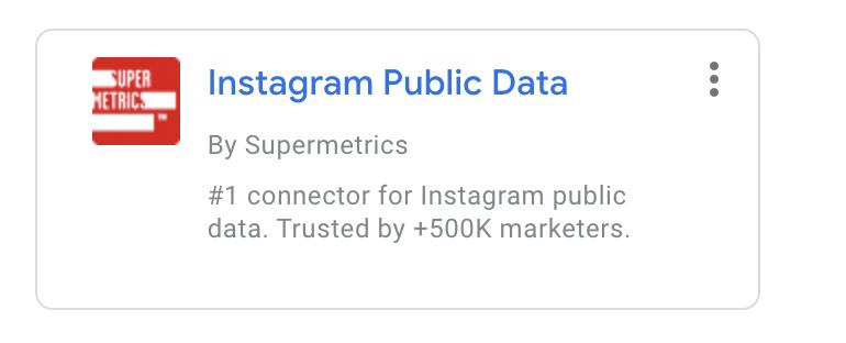 Instagram publics data by Supermetrics
