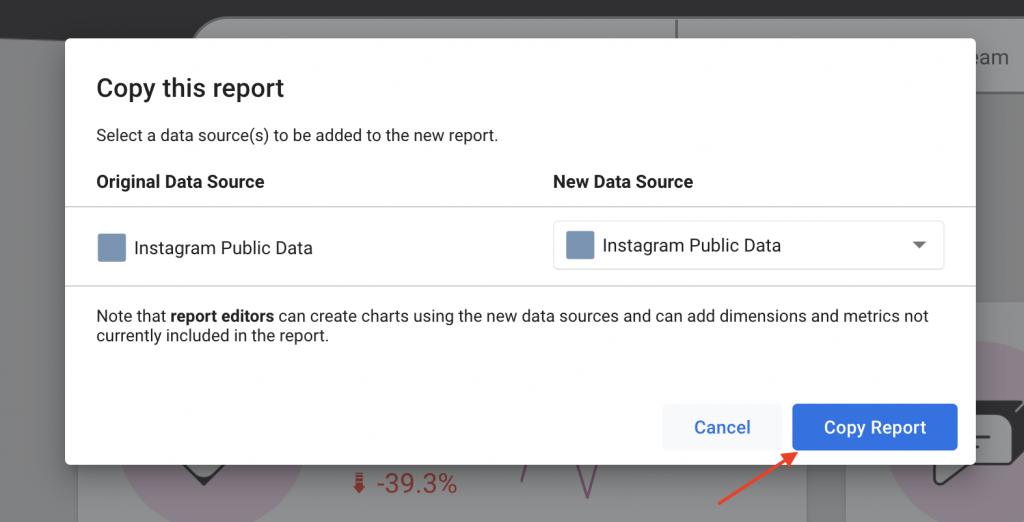 Copy Supermetrics report