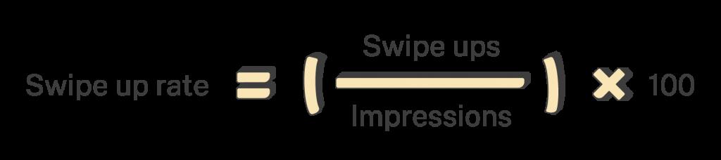 Swipe up rate formula