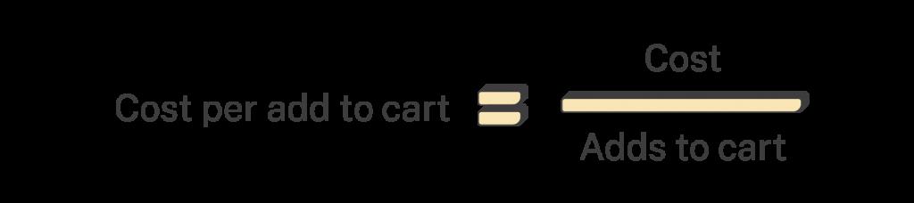 Cost per add to cart formula