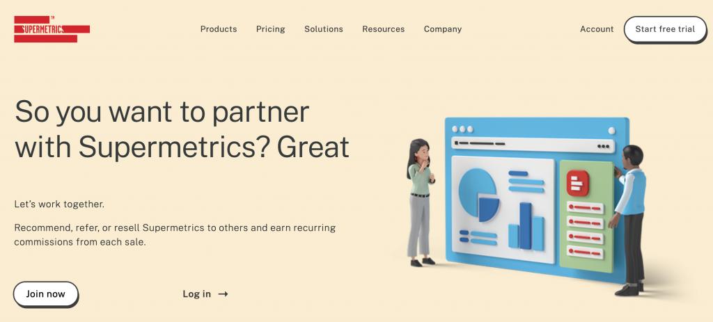 supermetrics partner landing page