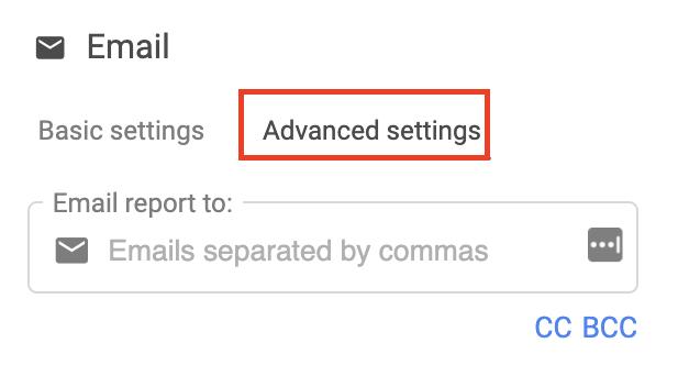 Choose advanced settings in the Supermetrics setting