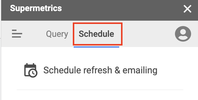 How to schedule a new data transfer with Supermetrics