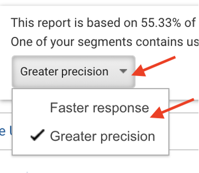 How to adjust sample size in Google Analytics