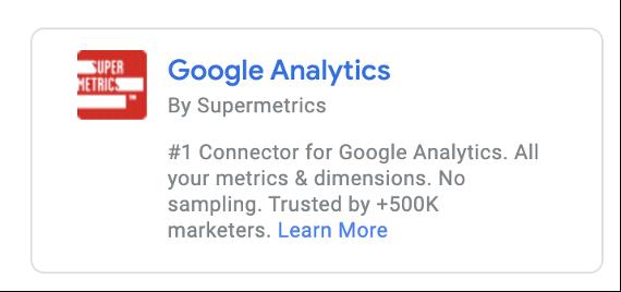 Google Analytics connector by Supermetrics