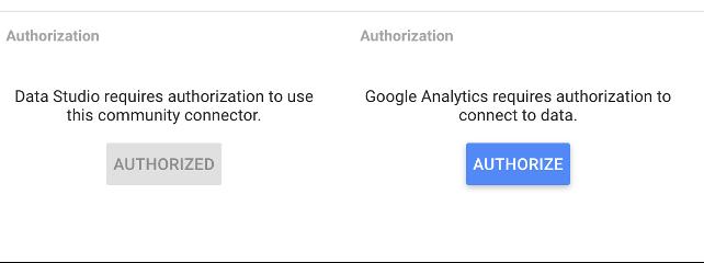 Authorize your Google accounts in Data Studio