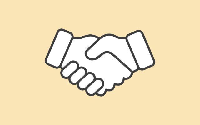 partner marketing handshake